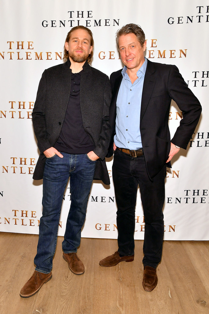 Charlie Hunnam and Hugh Grant The Gentlemen New York City Photocall