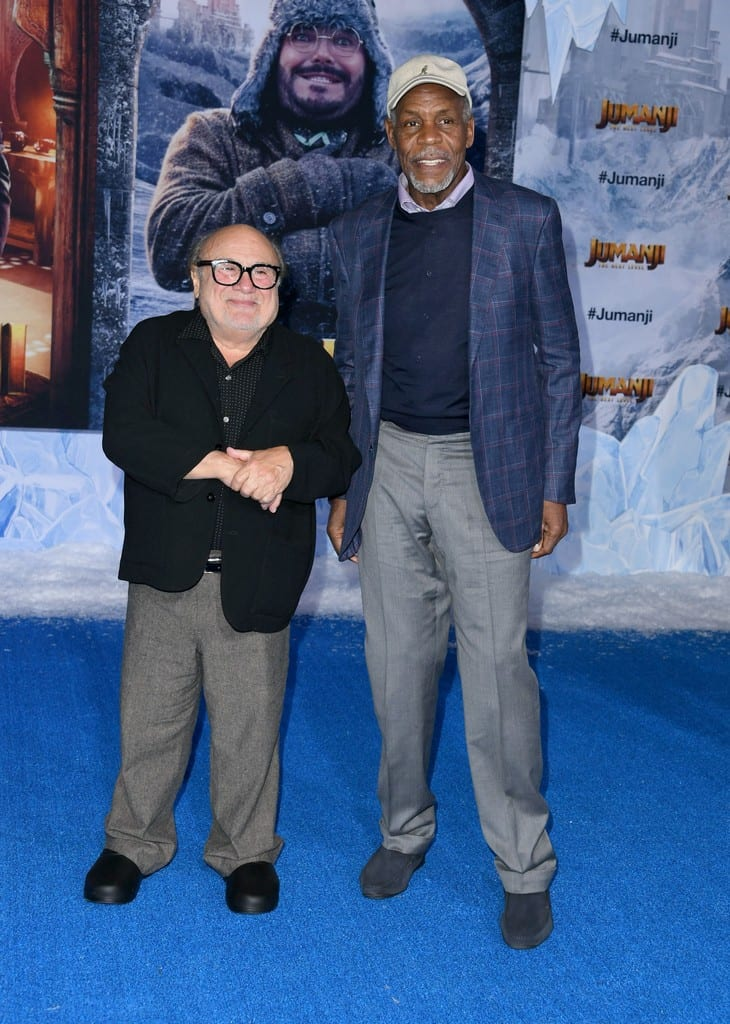 Danny DeVito and Danny Glover Jumanji The Next Level World Premiere Hollywood Los Angeles Red Carpet