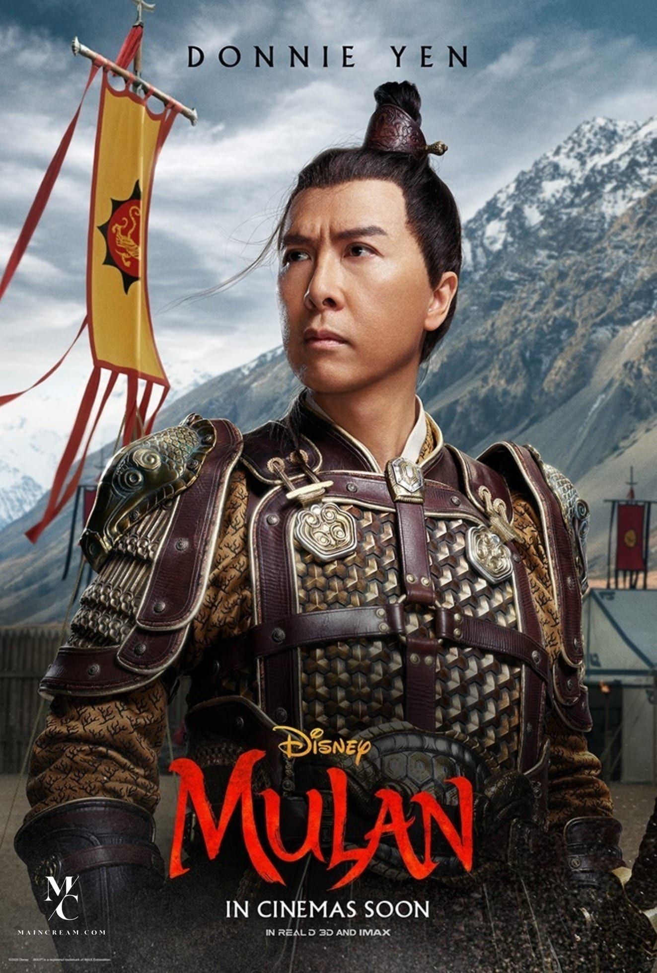 Disney Mulan Character Posters Donnie Yen as Commander Tung