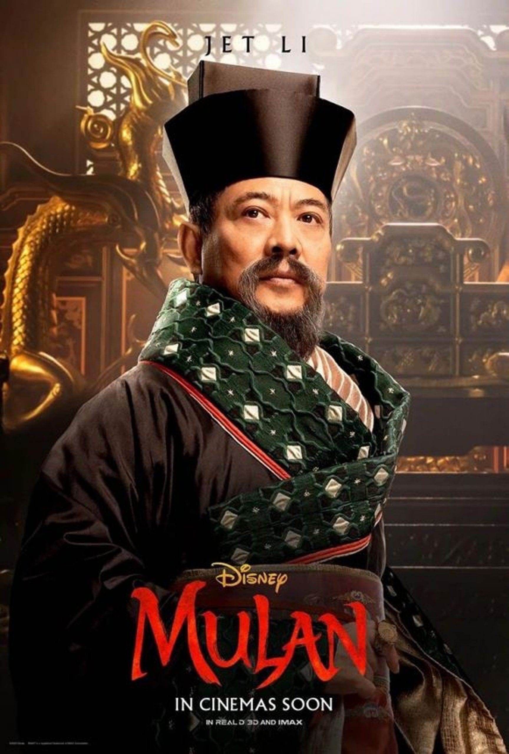 Disney Mulan Character Posters Jet Li as The Emperor of China