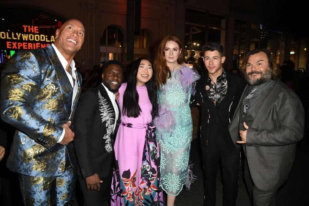 Cast of Jumanji The Next Level World Premiere Hollywood Los Angeles Red Carpet