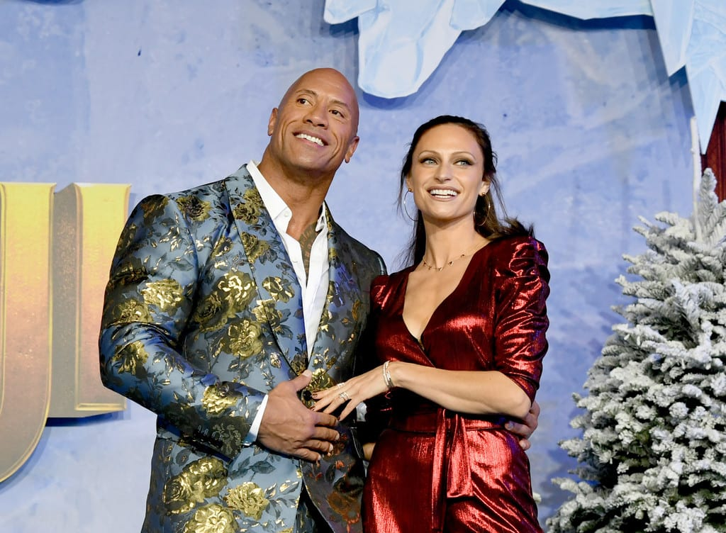 Dwayne Johnson and Lauren Hashian Jumanji The Next Level World Premiere Hollywood Los Angeles Red Carpet