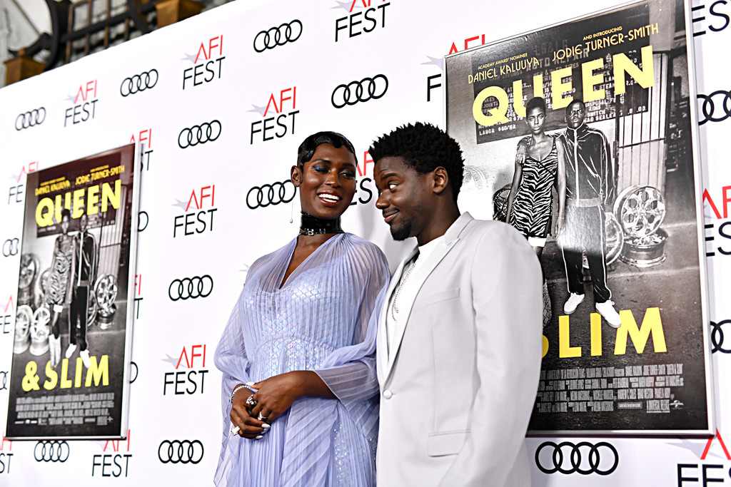 Jodie Turner-Smitha and Daniel Kaluuya Queen and Slim Hollywood Premiere 2019 AFI Festival Arrivals Los Angeles