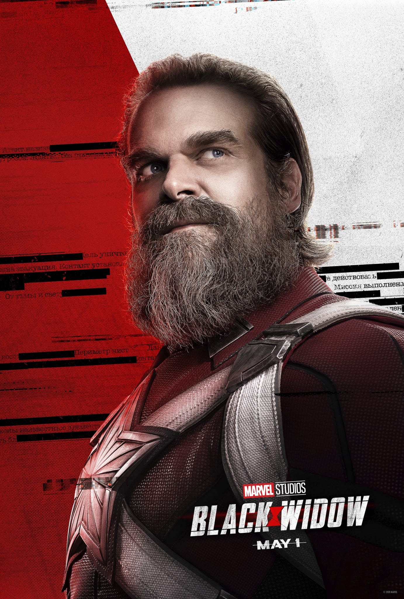Marvel Black Widow Character Posters David Harbour as Alexei Shostakov Red Guardian