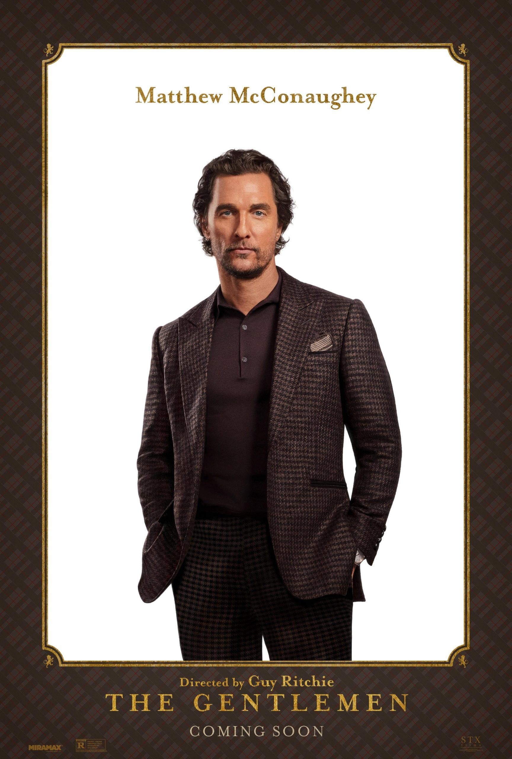 Matthew McConaughey as Michael Mickey Pearson The Gentlemen Character Posters
