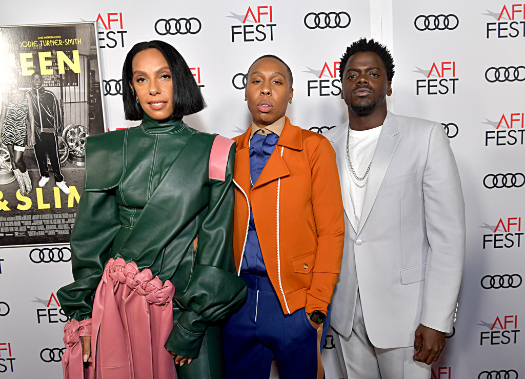 Melina Matsoukas, Daniel Kaluuya and Lena Waithe Queen and Slim Hollywood Premiere 2019 AFI Festival Arrivals Los Angeles