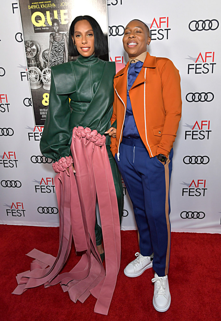 Melina Matsoukas and Lena Waithe Queen and Slim Hollywood Premiere 2019 AFI Festival Arrivals Los Angeles