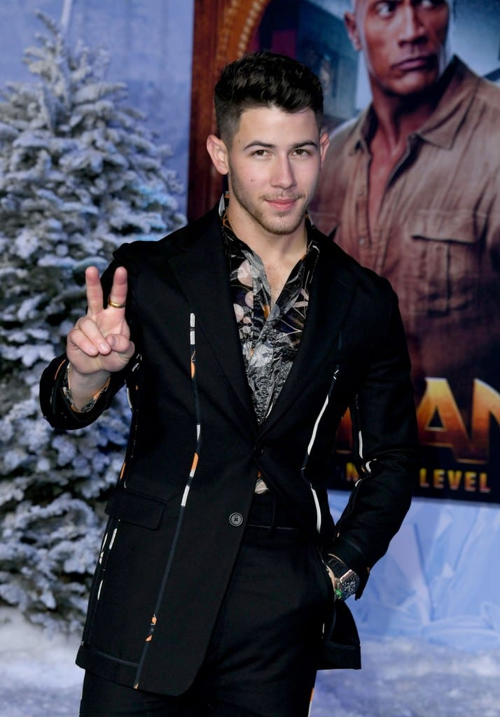 Nick Jonas Jumanji The Next Level World Premiere Hollywood Los Angeles Red Carpet
