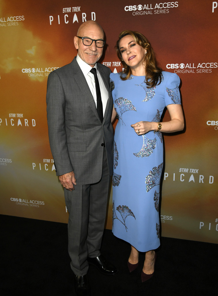 Patrick Stewart and Sunny Ozell Star Trek Picard Hollywood Los Angeles Premiere Series 1