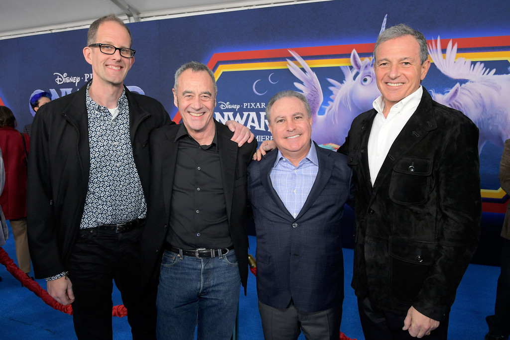 Pete Doctor, Jim Morris, Alan Bergman and Bob Iger Onward Hollywood Premiere Los Angeles Arrivals