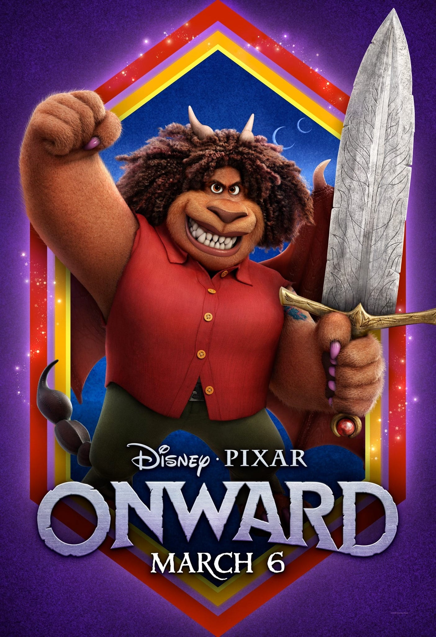 Pixar Onward Character Posters Octavia Spencer is Corey The Manticore