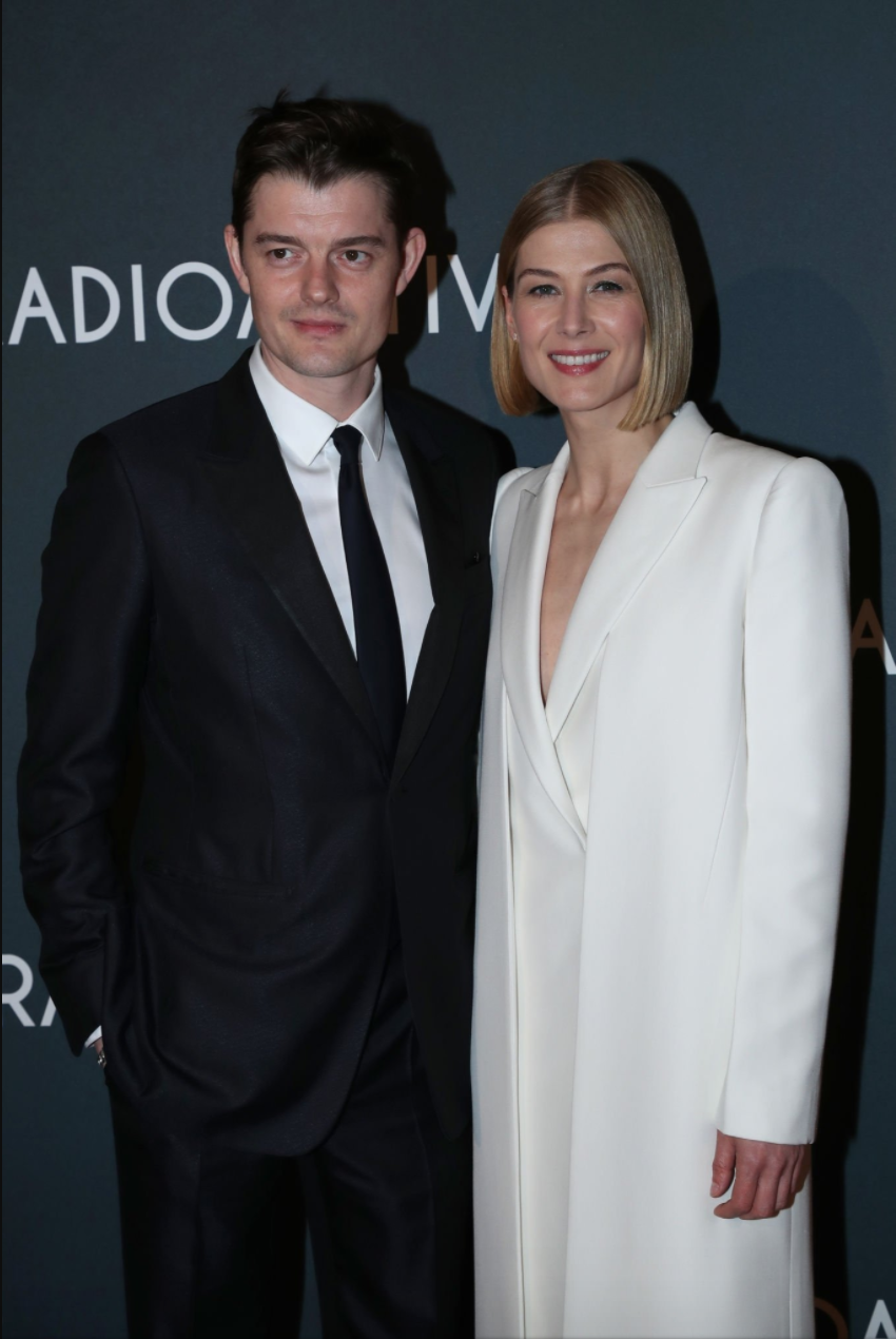 Sam Riley and Rosamund Pike Radioactive Paris Premiere France