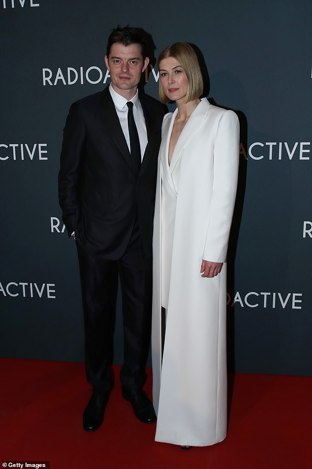 Sam Riley and Rosamund Pike Radioactive Premiere Paris France