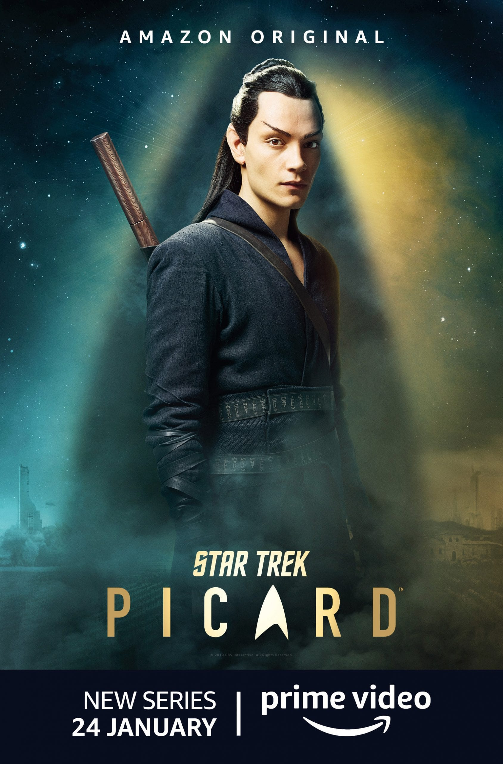 Star Trek Picard Character Posters Evan Evagora as Elnor