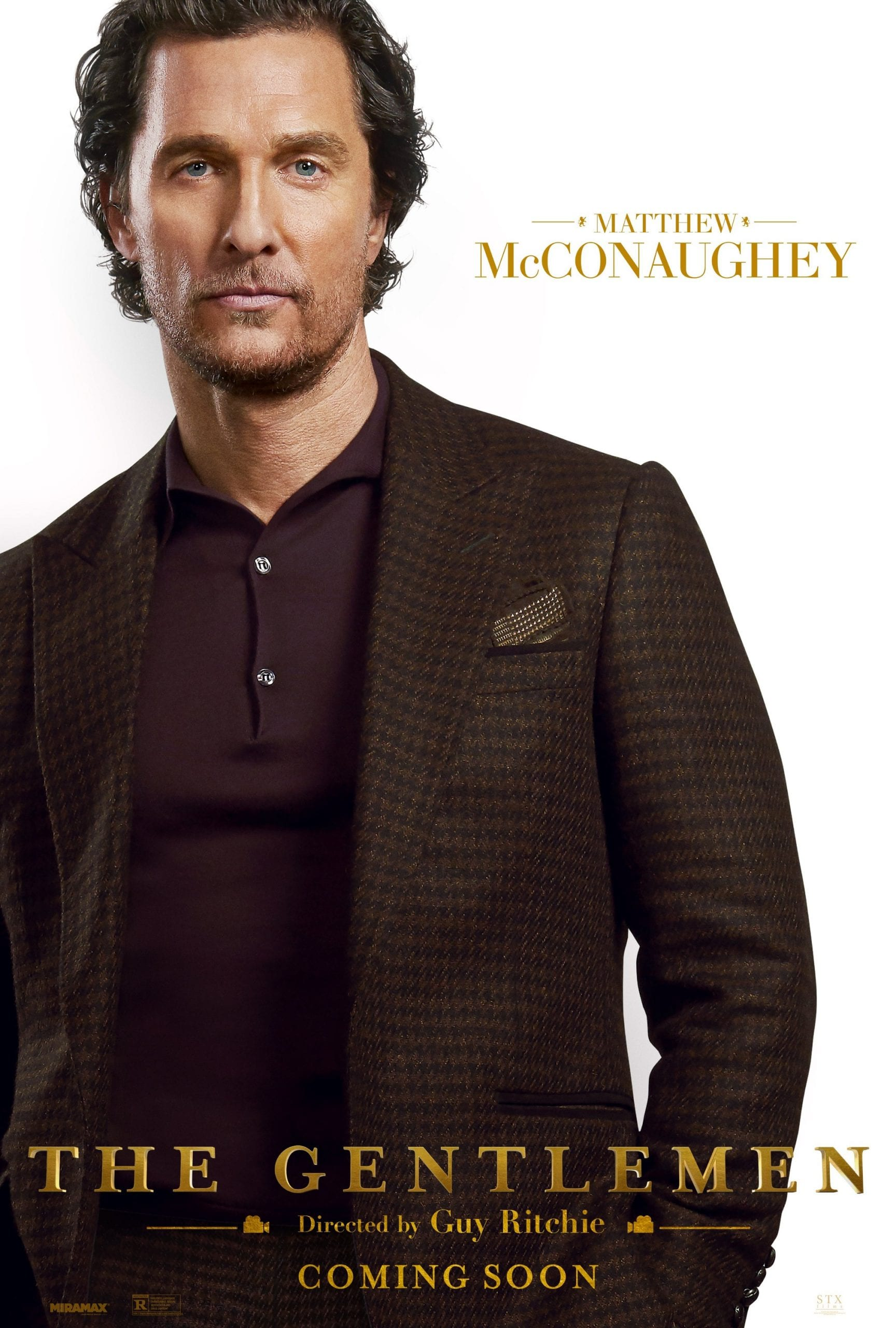 The Gentlemen Character Posters Matthew McConaughey as Michael Mickey Pearson