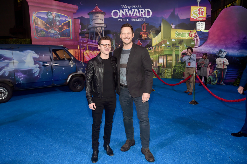 Tom Holland and Chris Pratt Onward Hollywood Premiere Los Angeles Arrivals