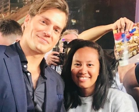 KB with Henry Cavill at the Mission: Impossible Fallout premiere in London