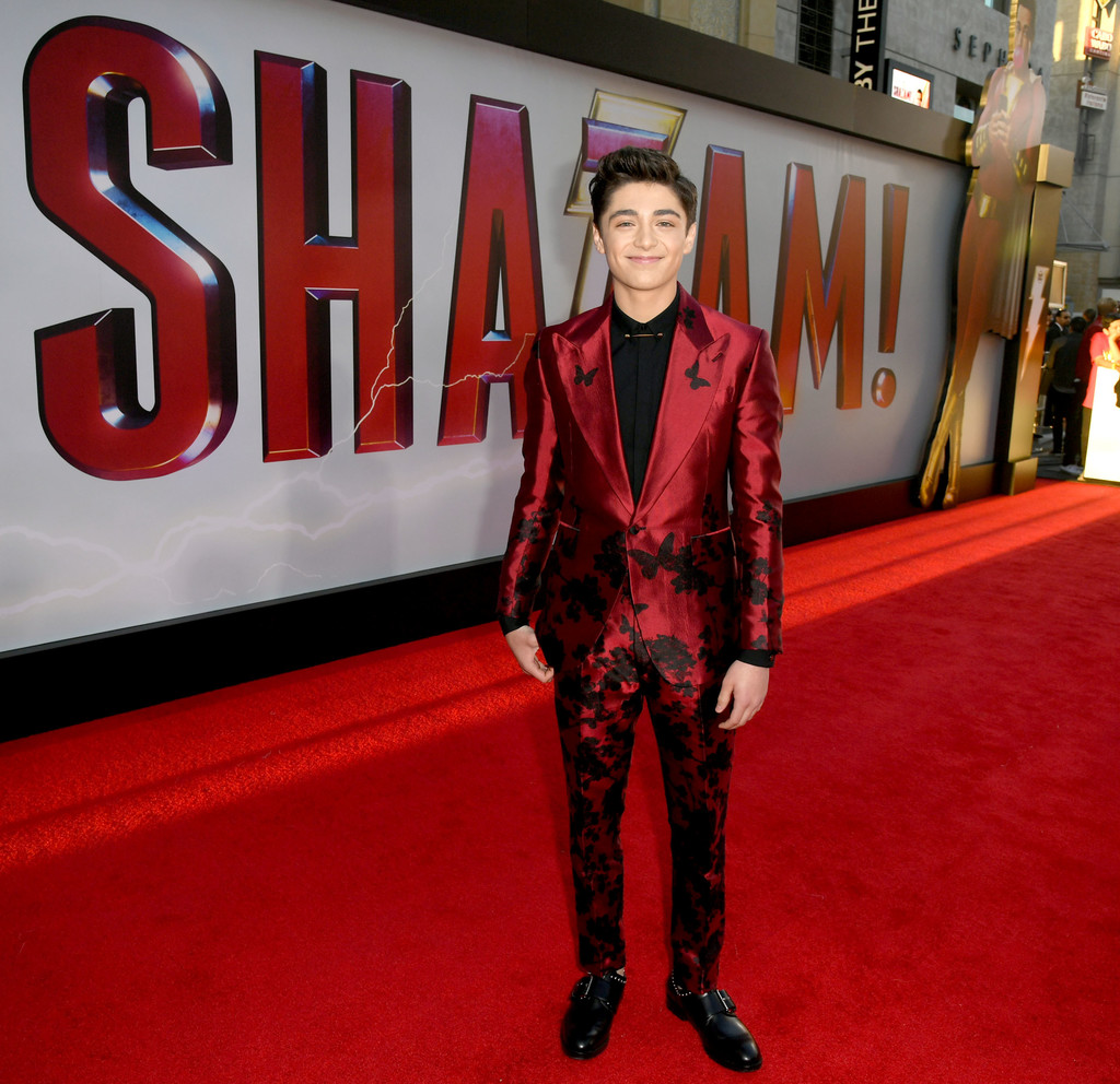 Asher Angel Shazam! World Premiere Los Angeles