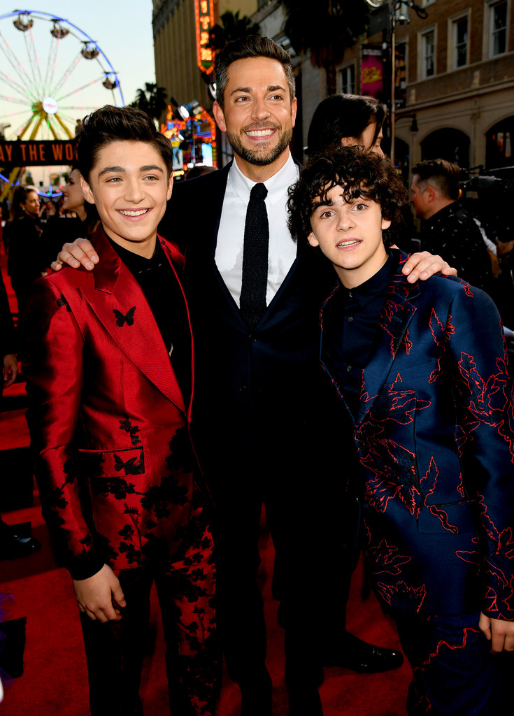 Asher Angel, Zavhary Levi and Jack Dylan Grazer Shazam! World Premiere Los Angeles