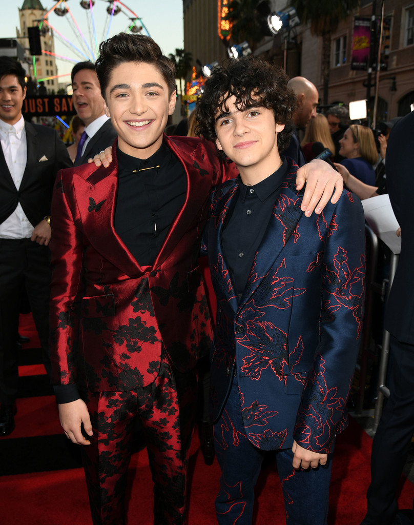 Asher Angel and Jack Dylan Grazer Shazam! World Premiere Los Angeles