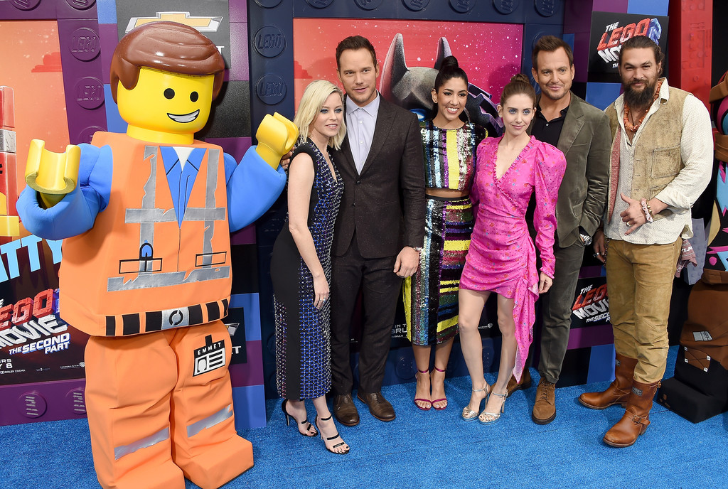 Elizabeth Banks, Chris Pratt, Stpehanie Beatriz, Alison Brie, Will Arnett and Jason Momoa The Lego Movie 2 Second Part Los Angeles Premiere