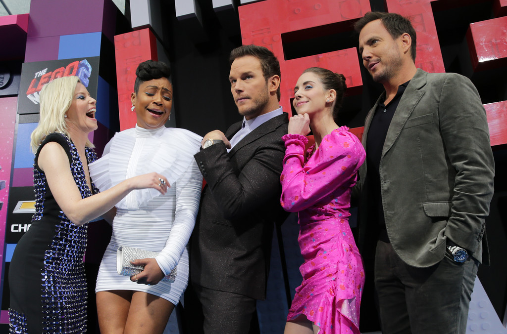Elizabeth Banks, Tiffany Haddish, Chris Pratt, Alison Brie and Will Arnett The Lego Movie 2 Second Part Los Angeles Premiere copy