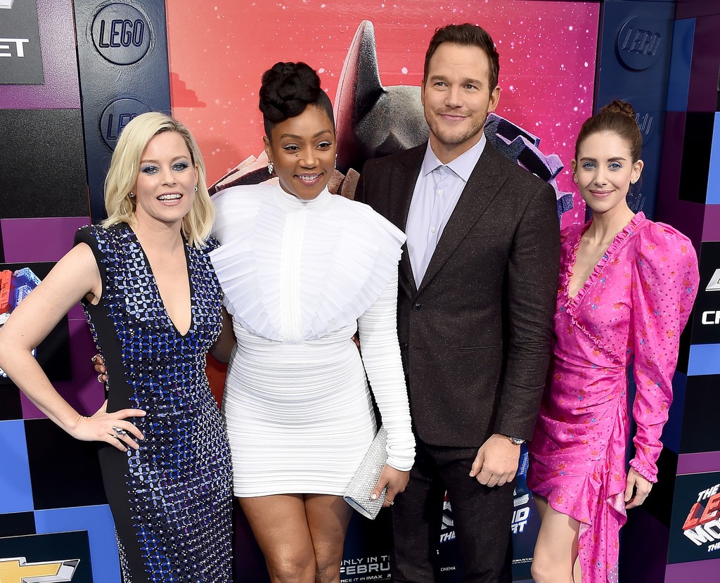 Elizabeth Banks, Tiffany Haddish, Chris Pratt and Alison Brie The Lego Movie 2 Second Part Los Angeles Premiere