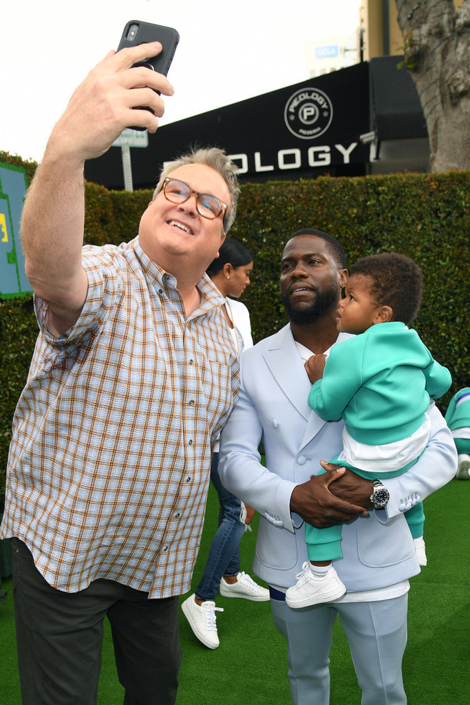 Eric Stronstreet, Kevin Hart and Kenzo Hart The Secret Life of Pets 2 Los Angeles Premiere
