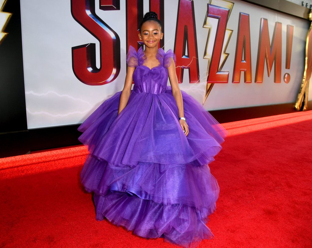 Faithe Herman Shazam! World Premiere Los Angeles