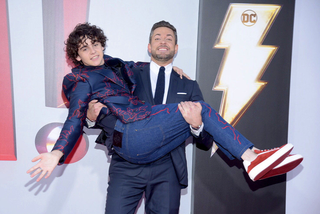 Jack Dylan Graze and Zachary Levi Shazam! World Premiere Los Angeles Arrivals