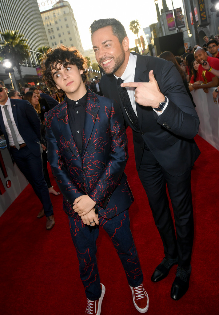 Jack Dylan Graze and Zachary Levi Shazam! World Premiere Los Angeles