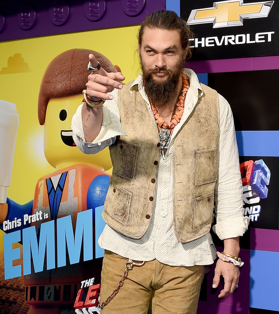 Jason Momoa The Lego Movie 2 Second Part Los Angeles Premiere