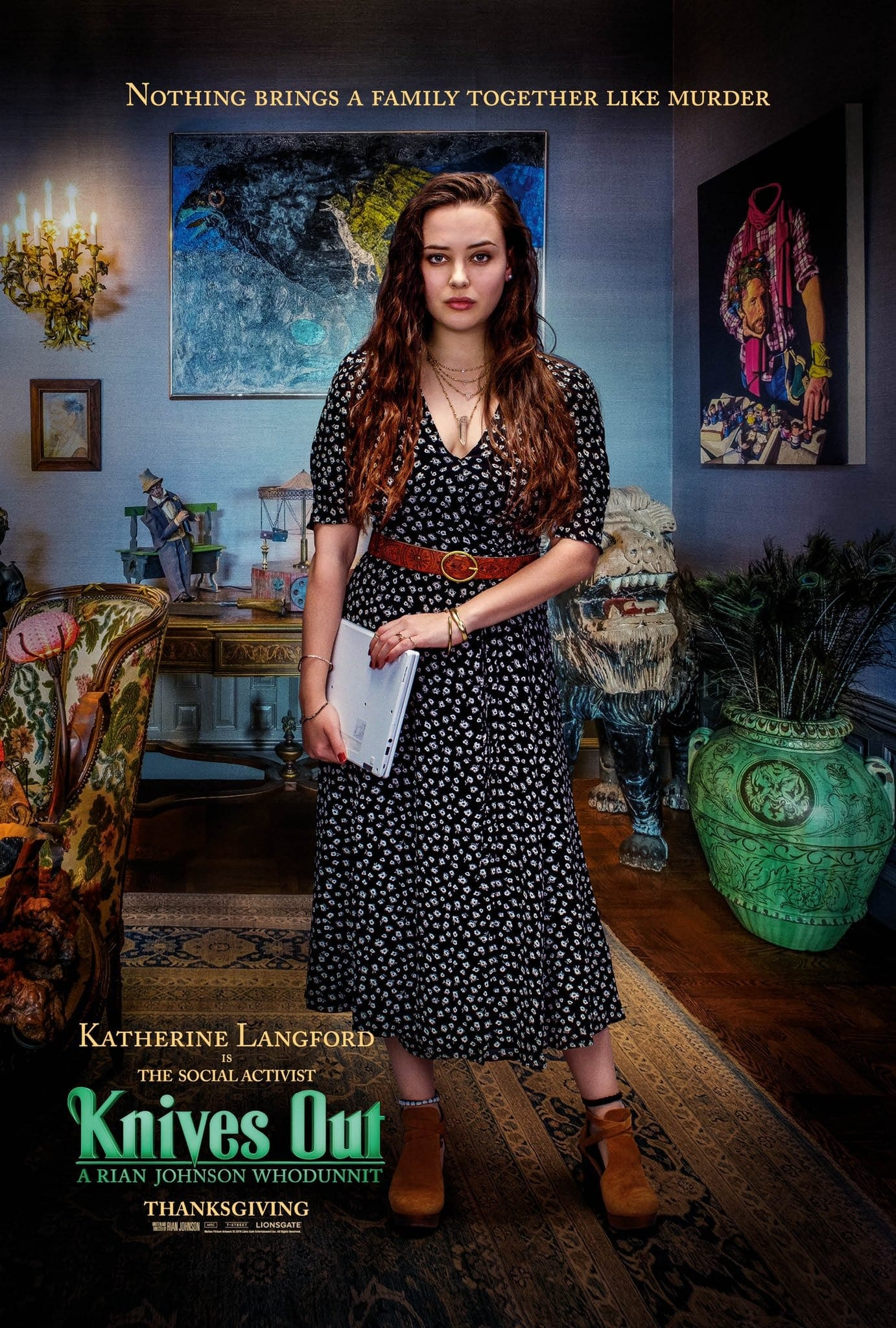 Katherine Langford as Megan Thrombey Knives Out Character Posters