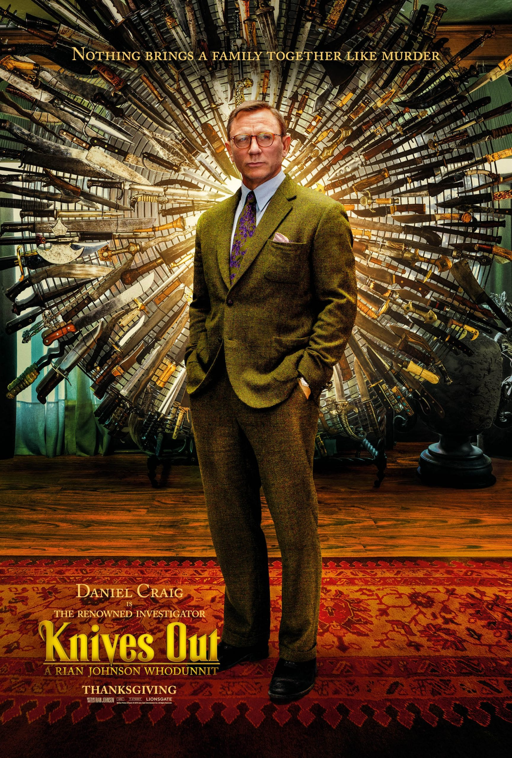 Knives Out Character Posters Daniel Craig as Benoit Blanc
