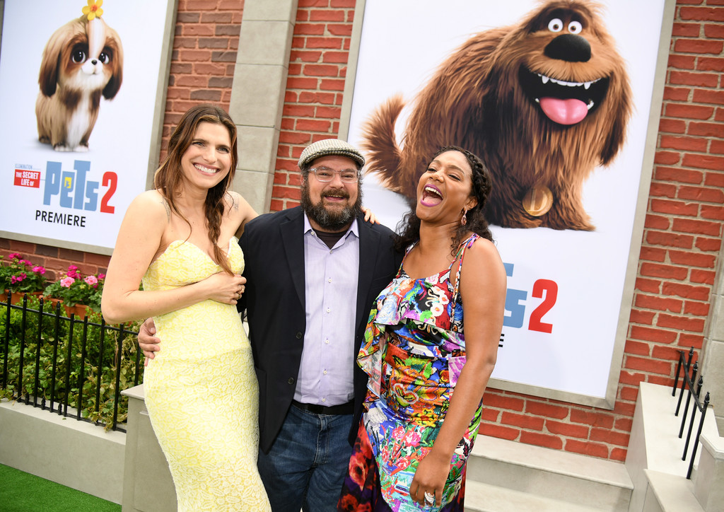 Lake Bell, Bobby Moynihan an Tiffany Haddish The Secret Life of Pets 2 Los Angeles Premiere