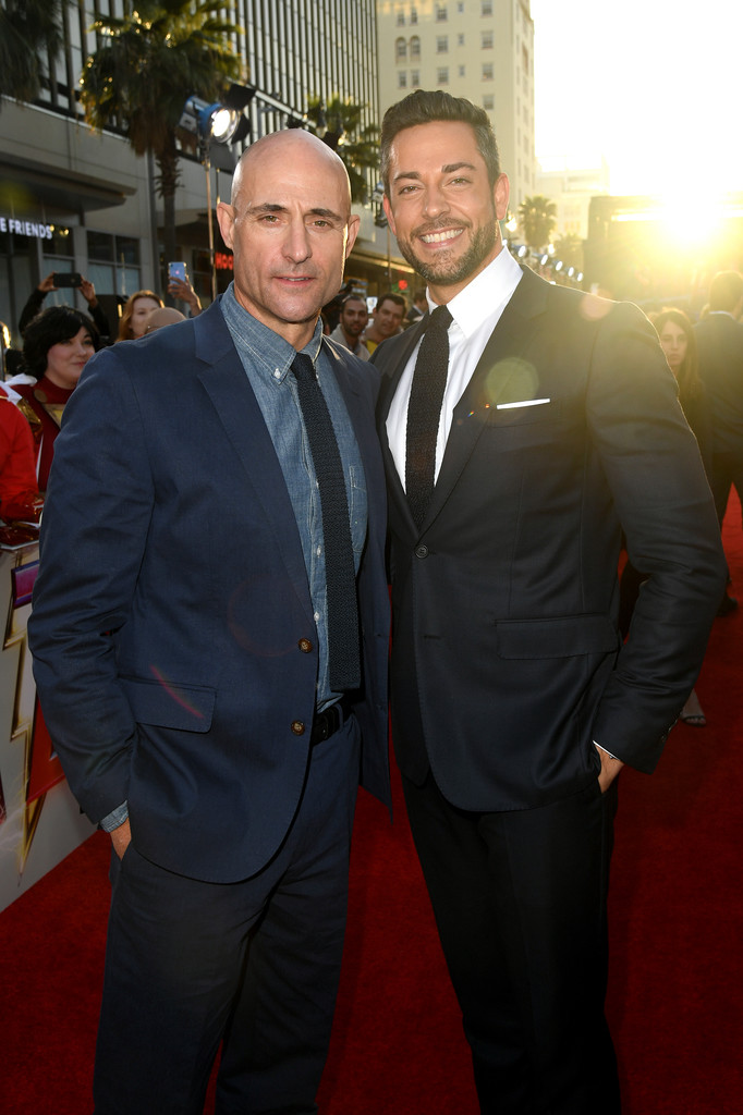 Mark Strong and Zachary Levi Shazam! World Premiere Los Angeles