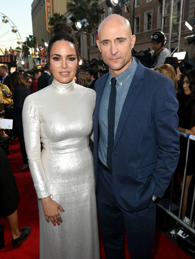 Marta Milans and Mark Strong Shazam! World Premiere Los Angeles
