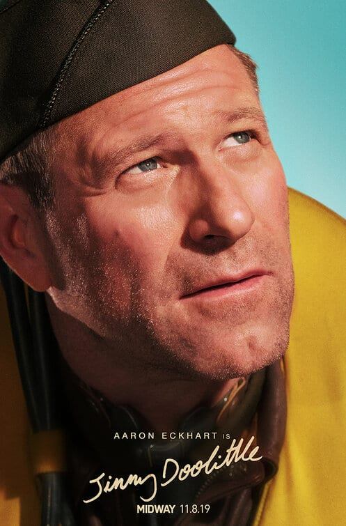 Midway Character Posters Aaron Eckhart as Jimmy Doolittle
