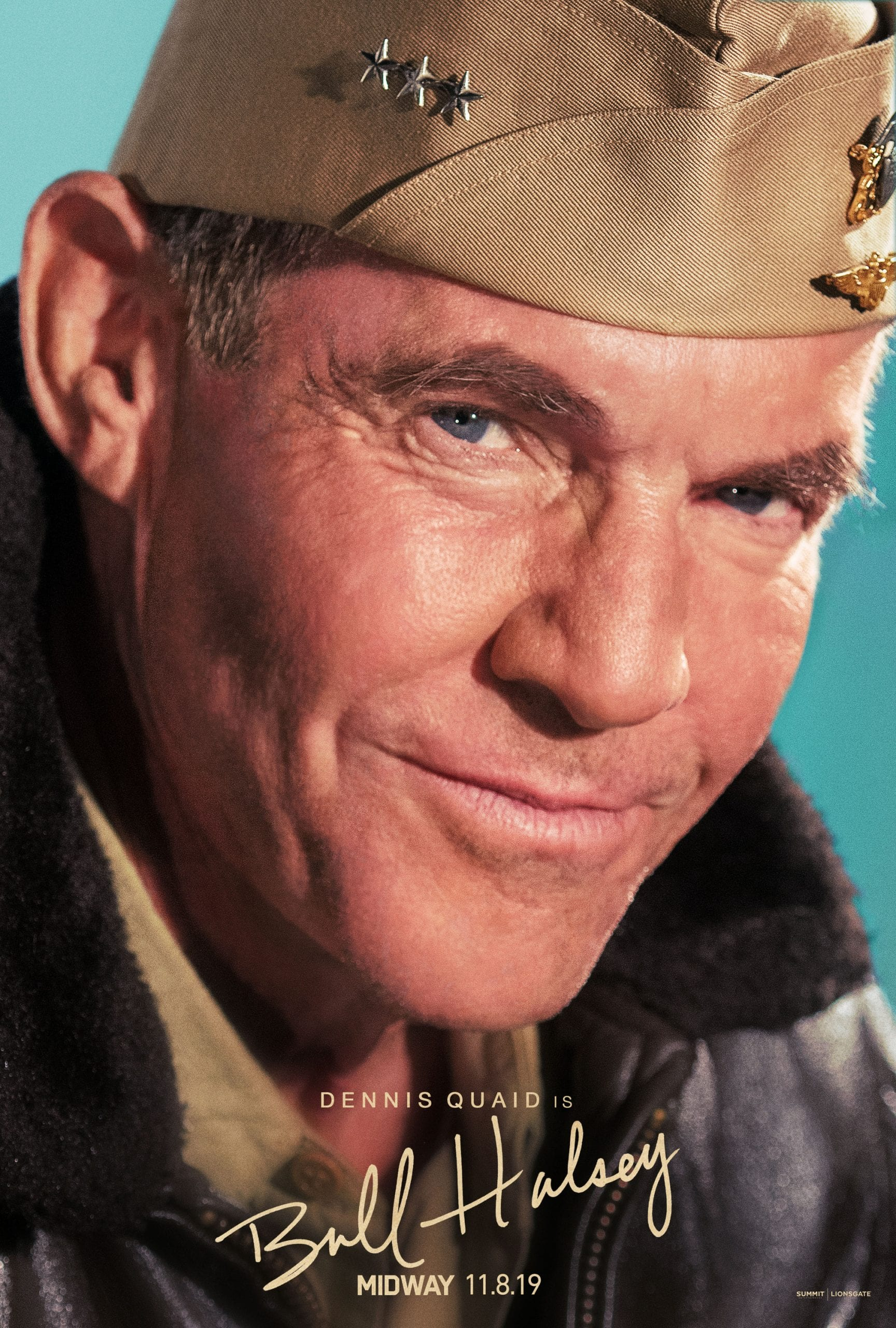 Midway Character Posters Dennis Quaid as Vice Admiral William Bull Halsey