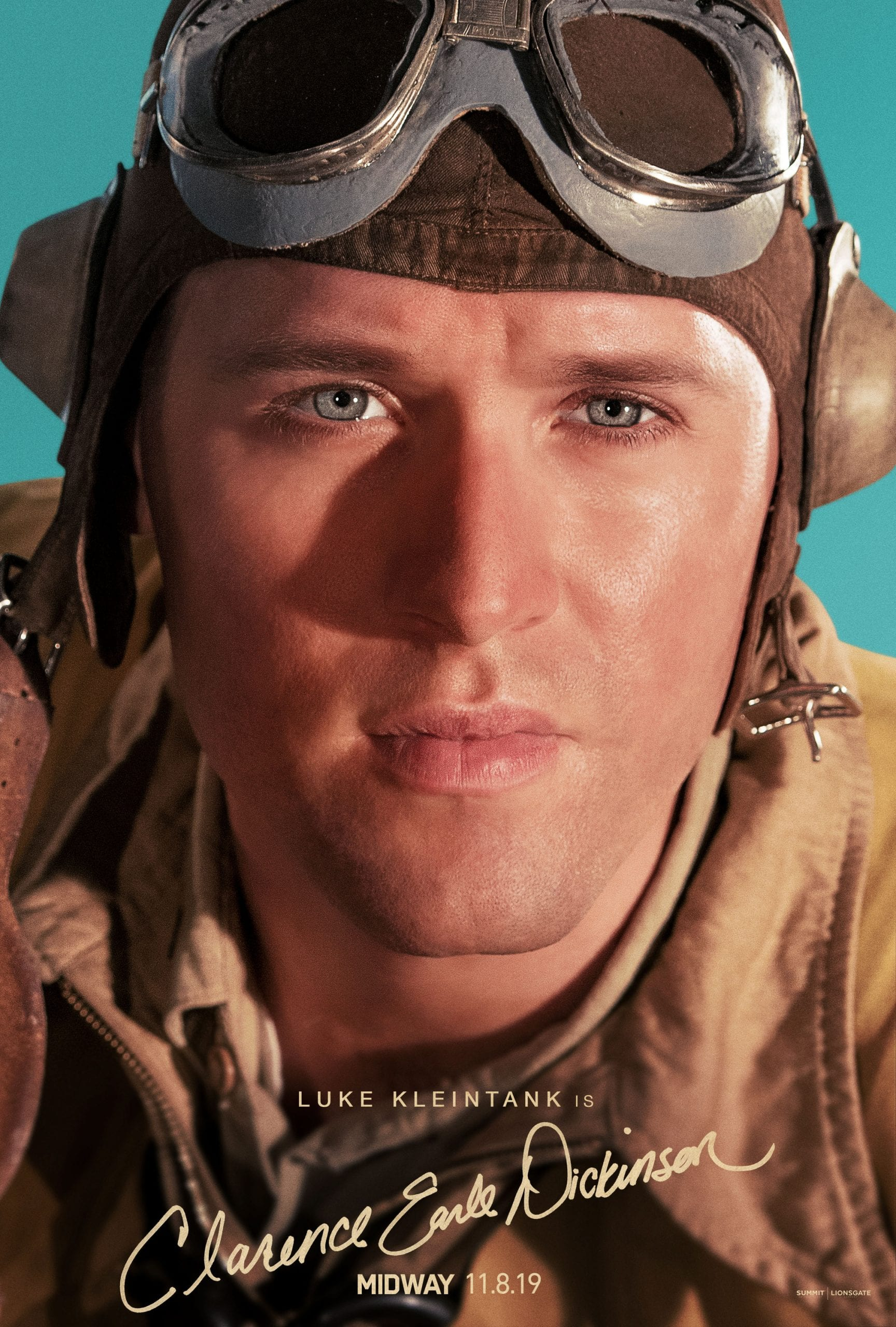 Midway Character Posters Luke Kleintank as Clarense Earl Dickinson