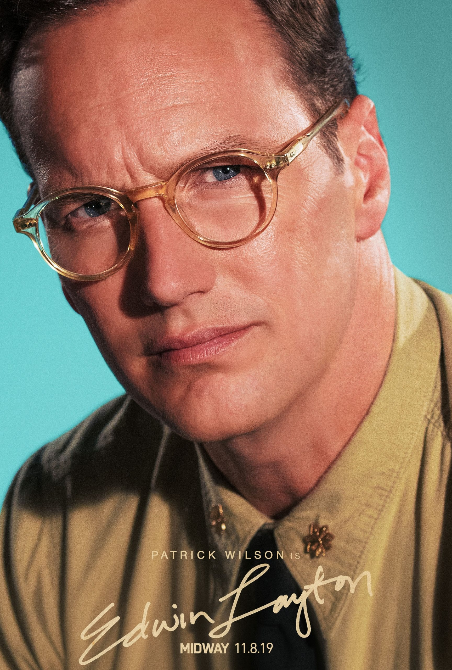 Midway Character Posters Patrick Wilson as Edwin Layton