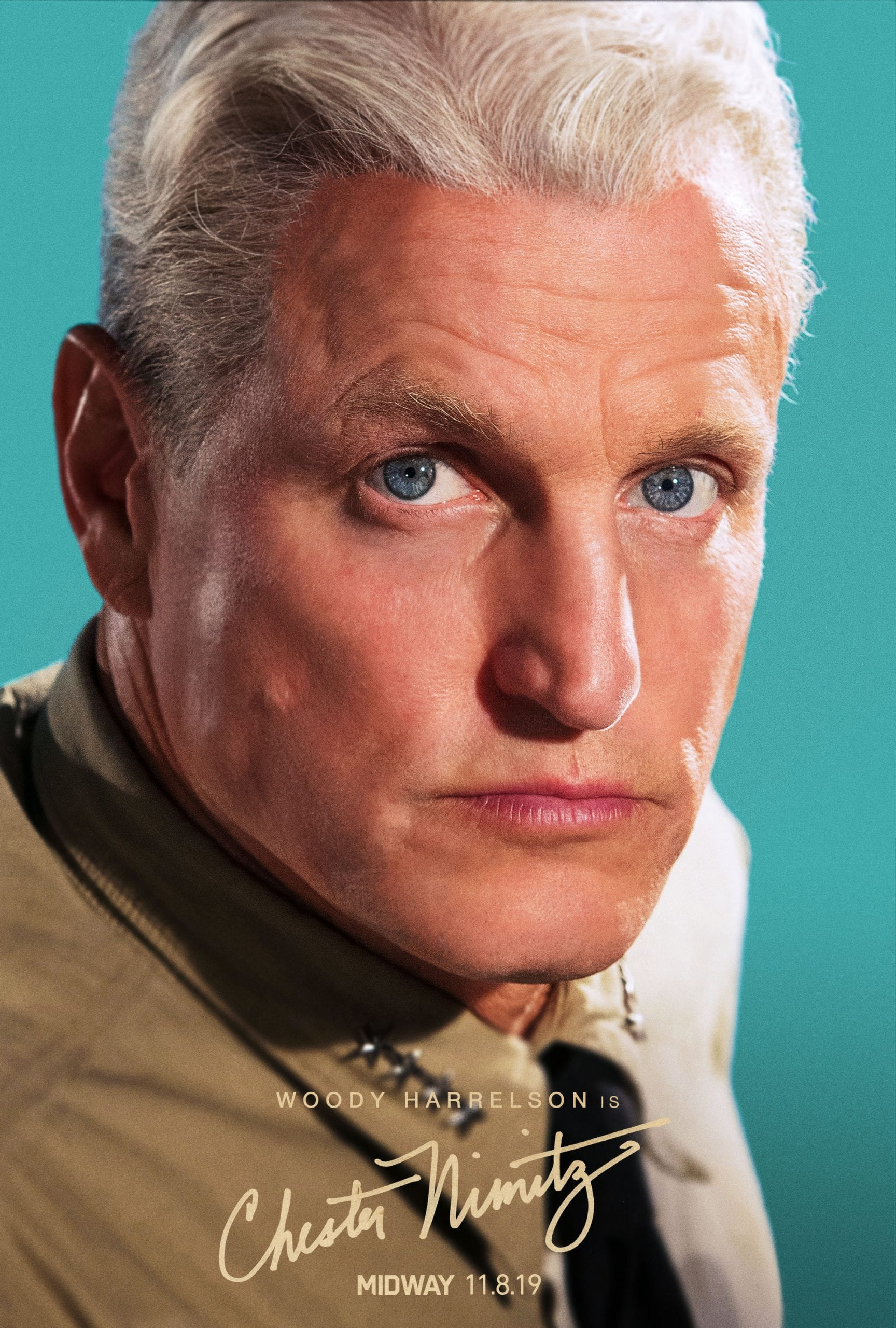 Midway Character Posters Woody Harrelson as Admiral Chester W. Nimitz
