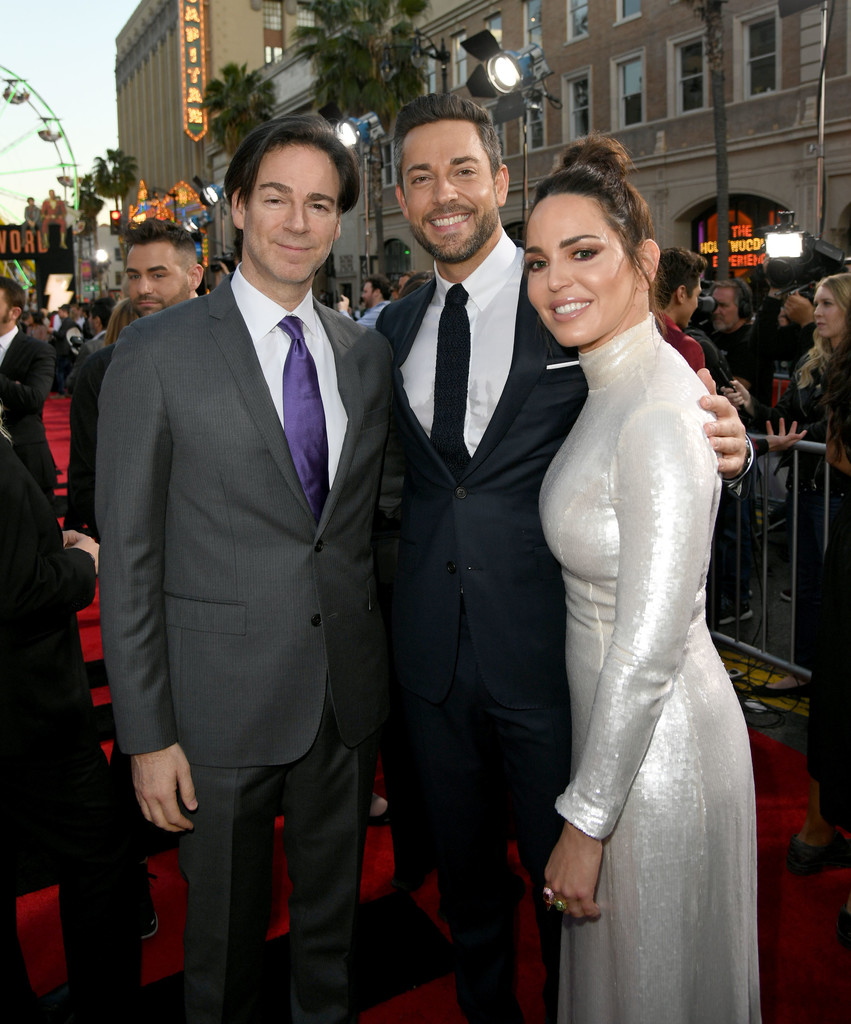 Peter Safran, Zachary Levi and Marta Milans Shazam! World Premiere Los Angeles