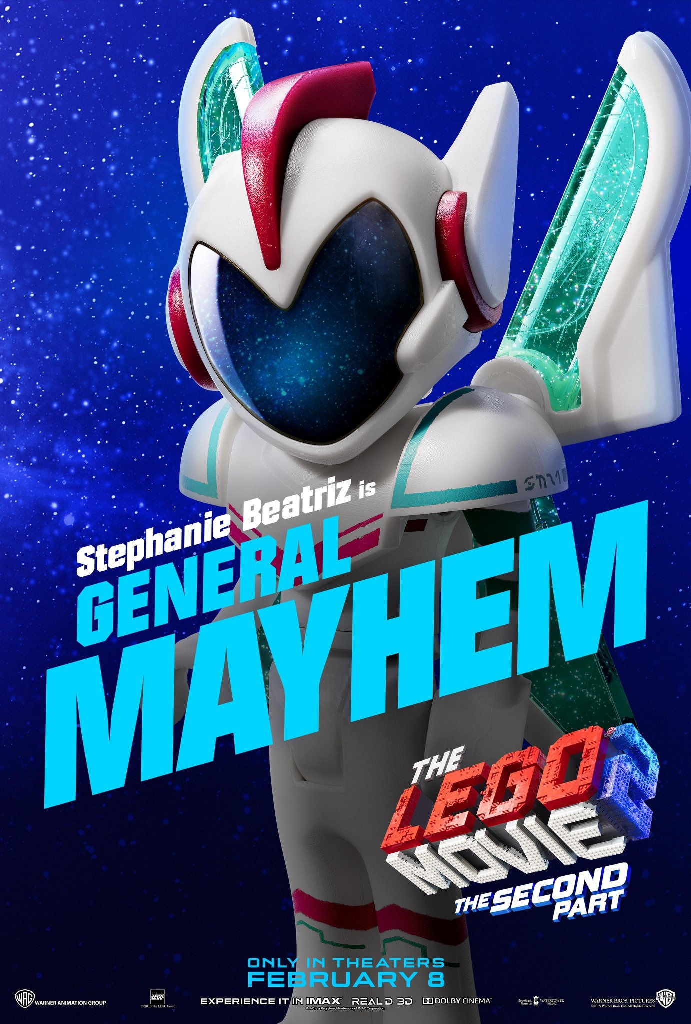 Stephanie Beatriz is General Mayhem The Lego Movie 2 The Second Part Character Posters