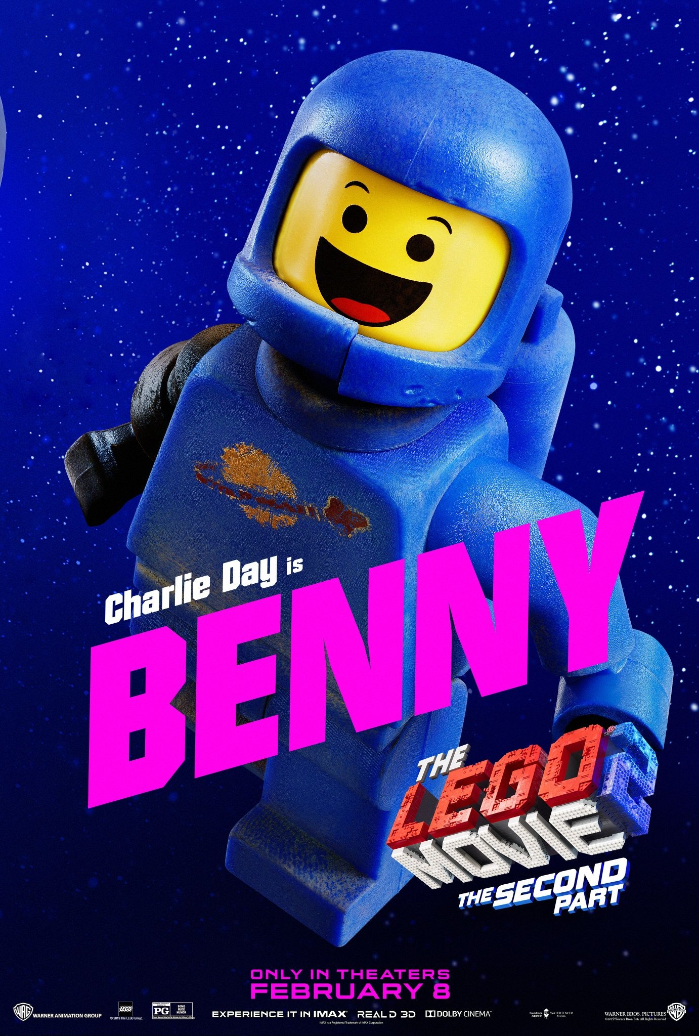 The Lego Movie 2 The Second Part Character Posters Charlie Day is Benny