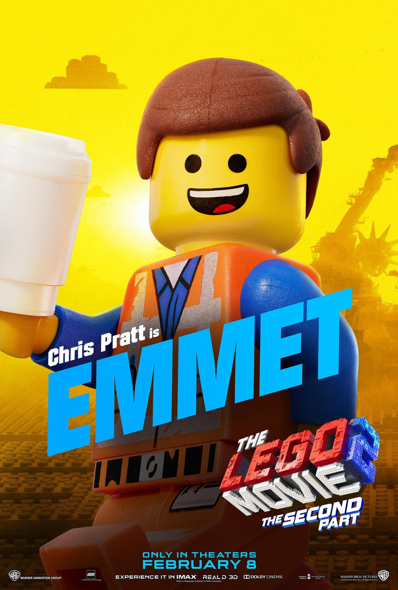 The Lego Movie 2 The Second Part Character Posters Chris Pratt is Emmet