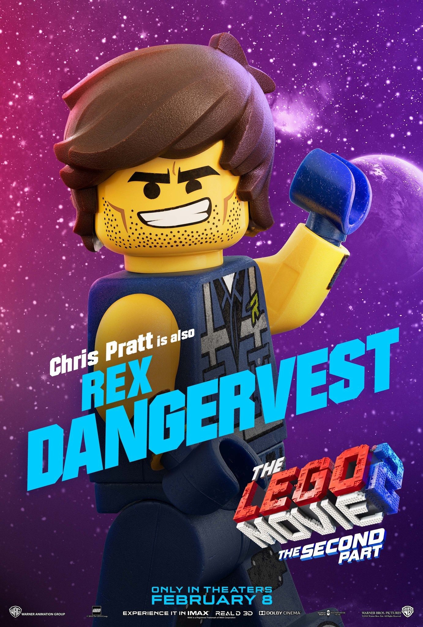 The Lego Movie 2 The Second Part Character Posters Chris Pratt is Rex Dangervest