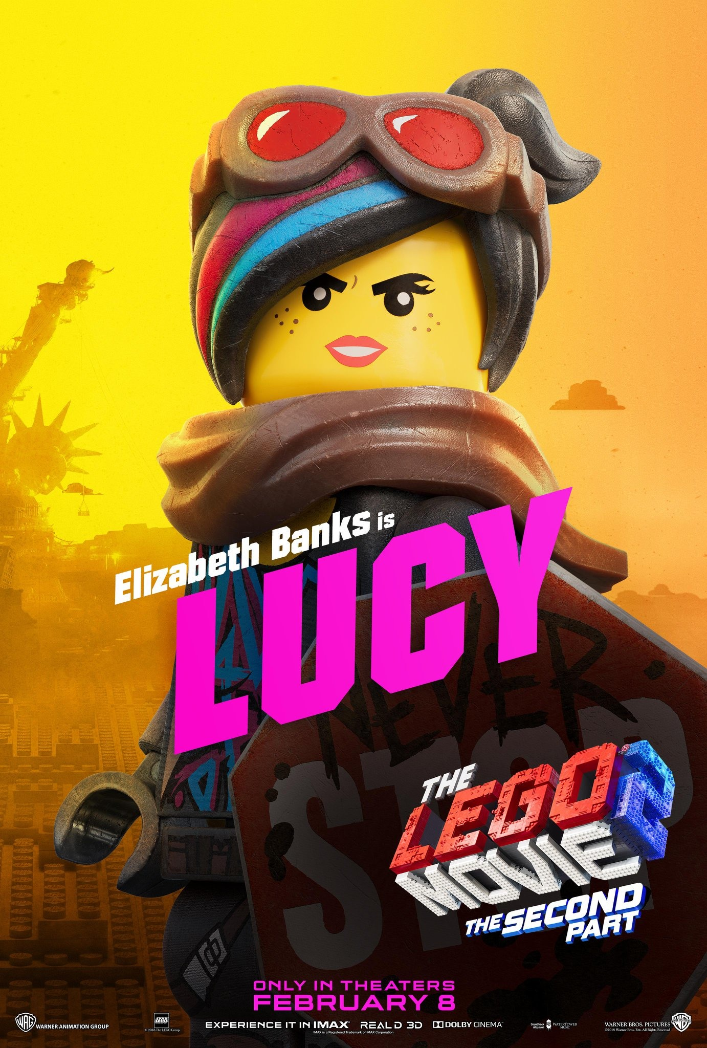 The Lego Movie 2 The Second Part Character Posters Elizabeth Banks is Lucy