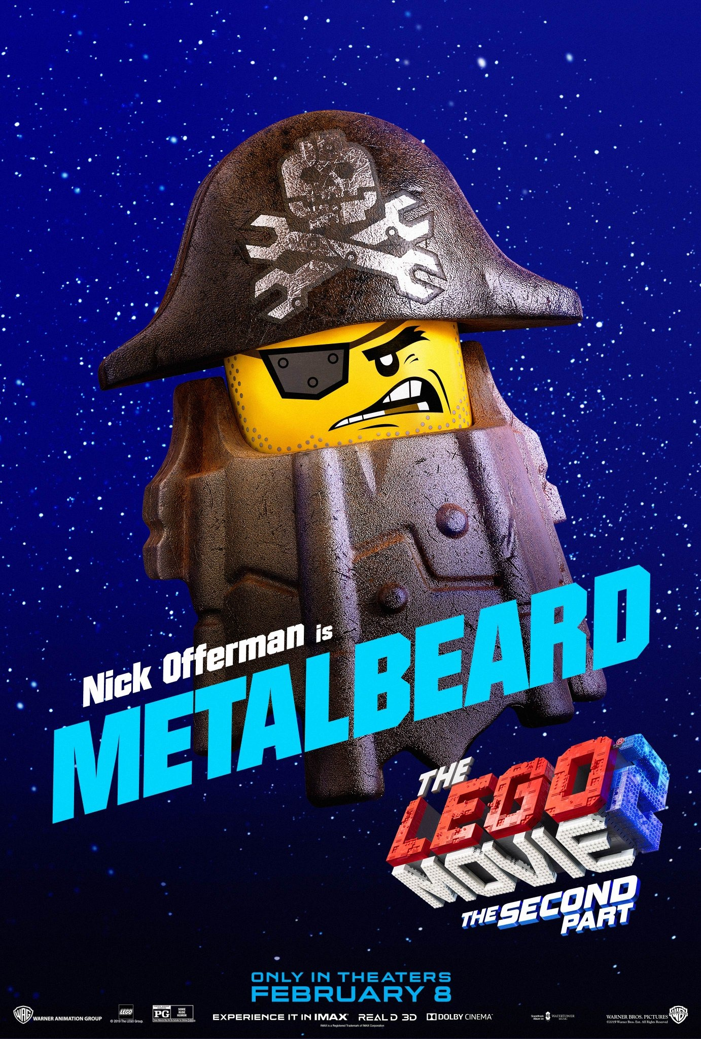 The Lego Movie 2 The Second Part Character Posters Nick Offerman is Metalbeard