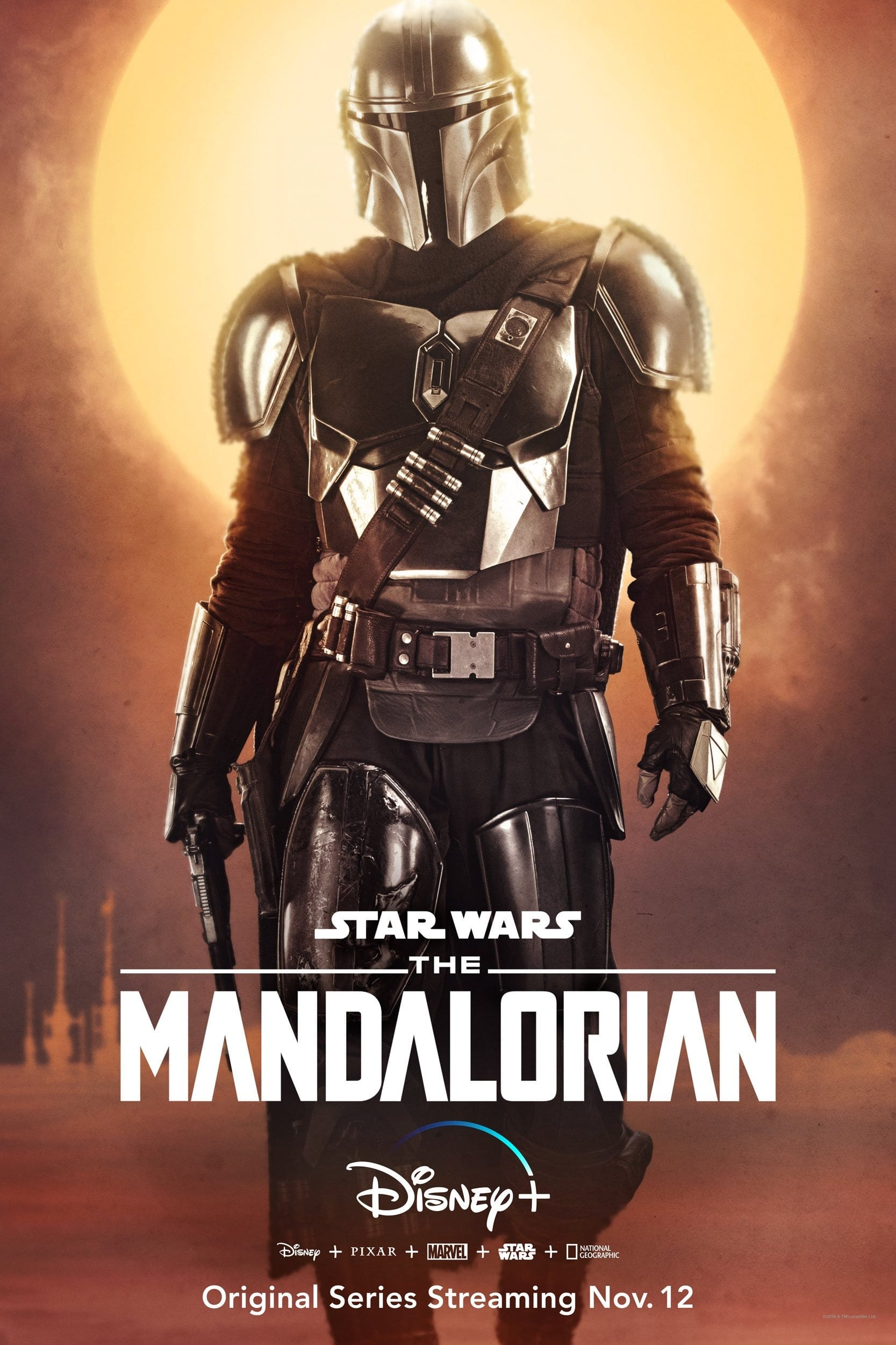 The Mandalorian Character Posters Pedro Pascal as The Mandalorian